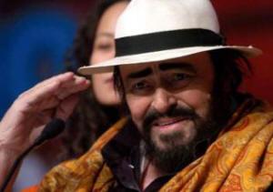 Luciano Pavarotti, August 2007