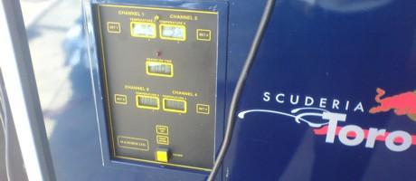 Toro Rosso fuel temperature gauge