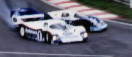 Jacky Ickx & Stefan Bellof, Eau Rouge, Spa 1/9/1985