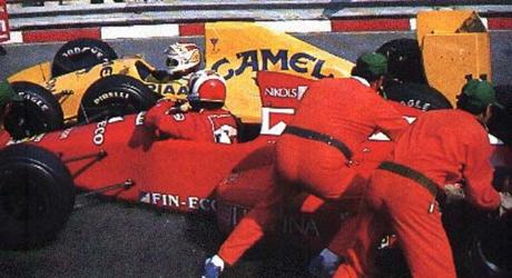 Nelson Piquet/Andrea de Cesaris, Monaco 1989