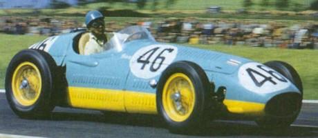 Prince Bira, Maserati 250F, Reims-Gueux 1954