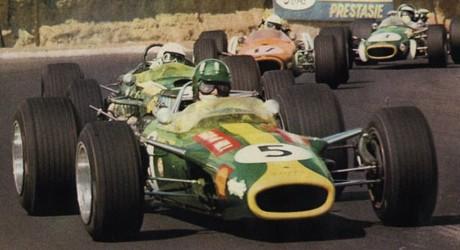 Hill, Brabham, Love & Rindt, Kyalami 1968