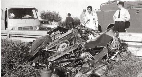 """David Piper, Porsche 917, """"Le Mans""""-Movie crash"""