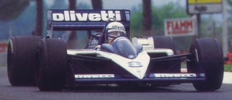 Elio de Angelis, Brabham BT55, GP San Marino 1986