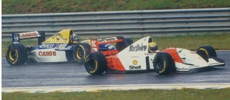 Ayrton Senna & Damon Hill, 1993 Brazilian GP