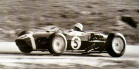 Stirling Moss, Lotus 18-Climax, Riverside 1960