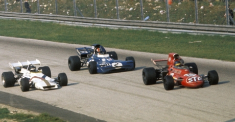 Peter Gethin, Francois Cevert & Ronnie Peterson, Monza 1971