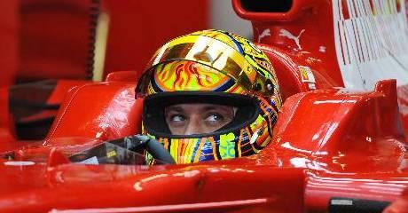 Valentino Rossi, Ferrari test, Mugello 2008