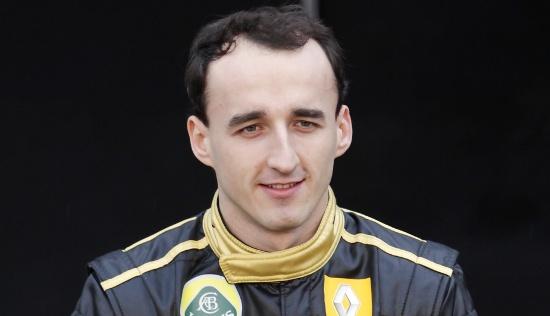 Kubica en la presentación del nuevo Lotus-Renault GP